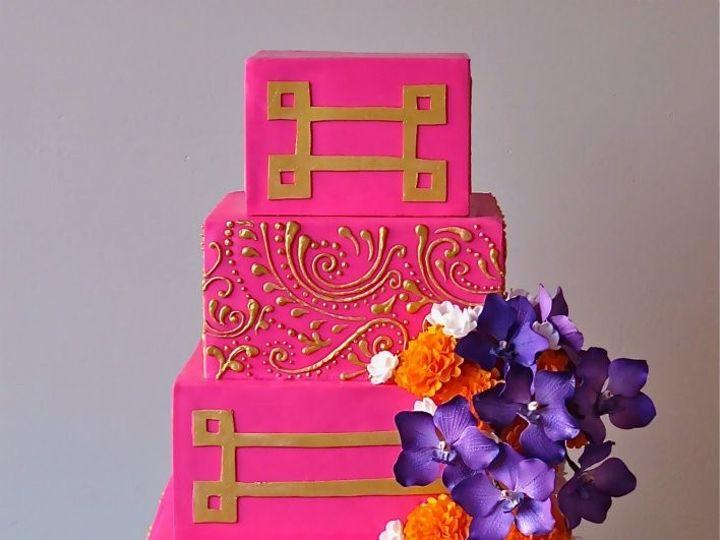 Tmx 1371018111419 Pink Explosion Seattle wedding cake