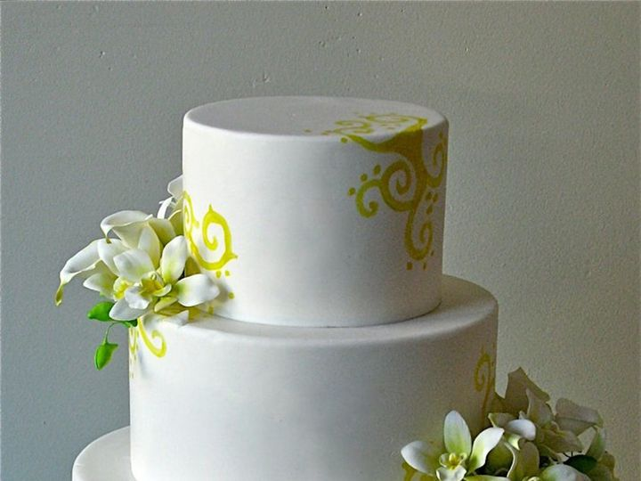 Tmx 1371018417722 Yellow Tropical Seattle wedding cake