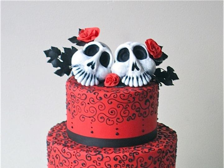Tmx 1371018497174 Day Of The Dead Seattle wedding cake
