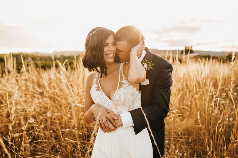 Oregon Wedding Sunset Photos