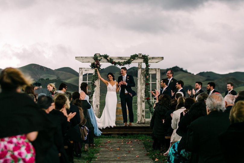 The wedding arch | Hannah Kate Photography