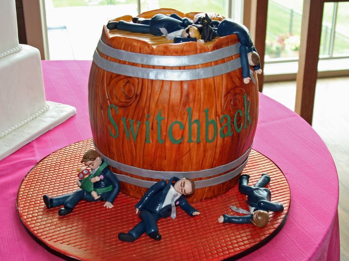 Tmx 1418393226326 062114switchback Grooms Cake Raleigh wedding cake