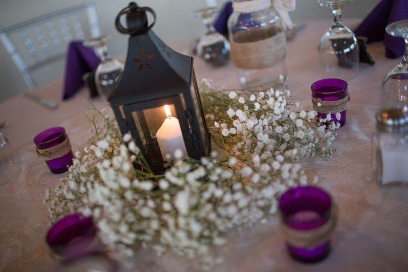 Candle light centerpiece