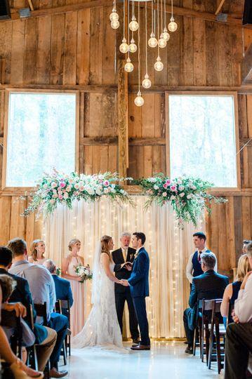 Pretty indoor wedding