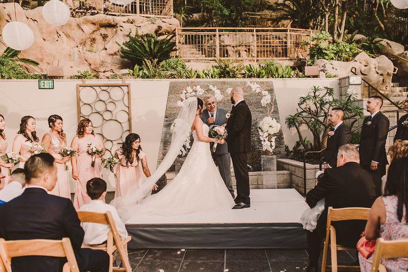 Ceremony set up