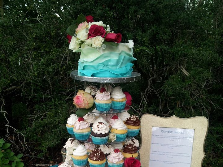 Tmx 1386689102398 Blue Ombre Cupcake Towe Saint Petersburg wedding cake