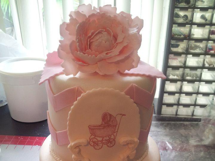 Tmx 1386689224624 Pink Baby Carriage Cak Saint Petersburg wedding cake