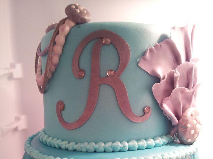 Tmx 1386689319924 Teal Quilted Cak Saint Petersburg wedding cake