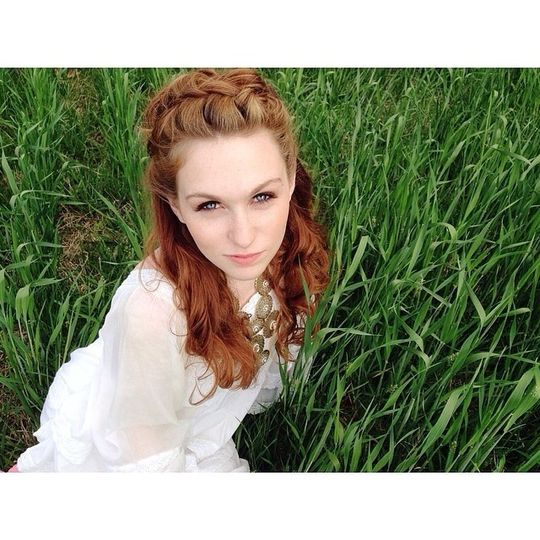 Bride by the grass
