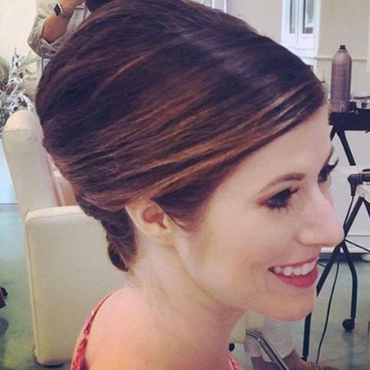 Profile shot of hairdo