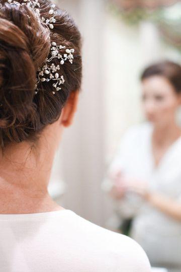 Bride in dressing room