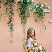 Lush colorful bridal bouquet