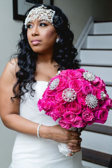 Pink and silver bouquet