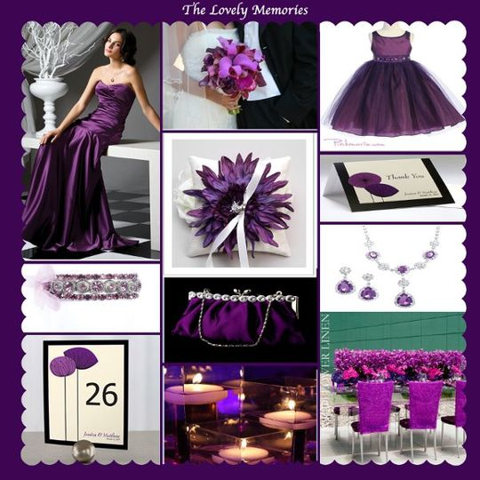 PurpleInspiredWedding