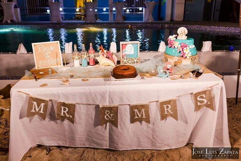 Cake Table | Photo Credit: Dulce Belize Weddings