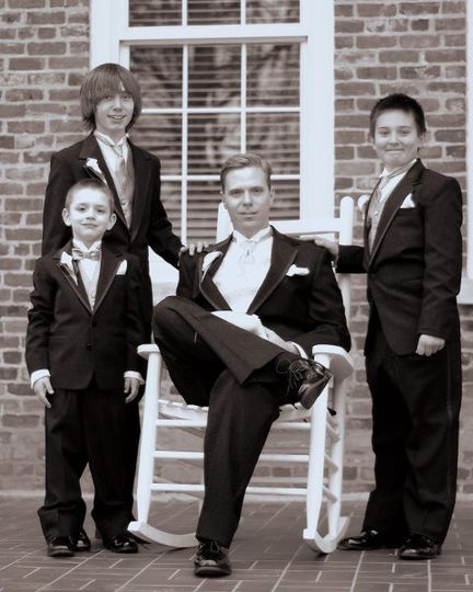 The groom and his crew