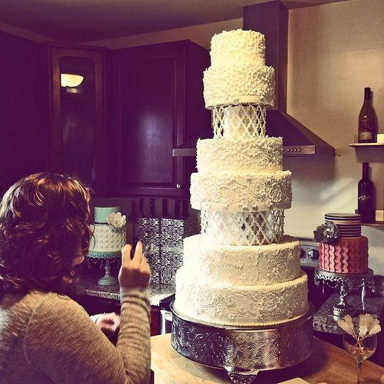 Celestial Cakery Wedding Cake Charlotte NC WeddingWire