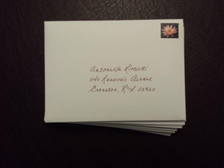 I'll hand address your invitation envelopes (including return address, postage and inner envelope)...