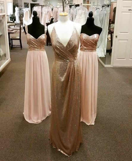 Gold and blush pinks