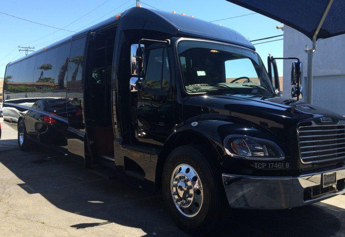 Tmx 1417905422735 Black Party Bus 2014 Side Los Angeles, CA wedding transportation