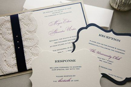 Tmx 1355164094114 Weddinglace2smaller Larchmont wedding invitation