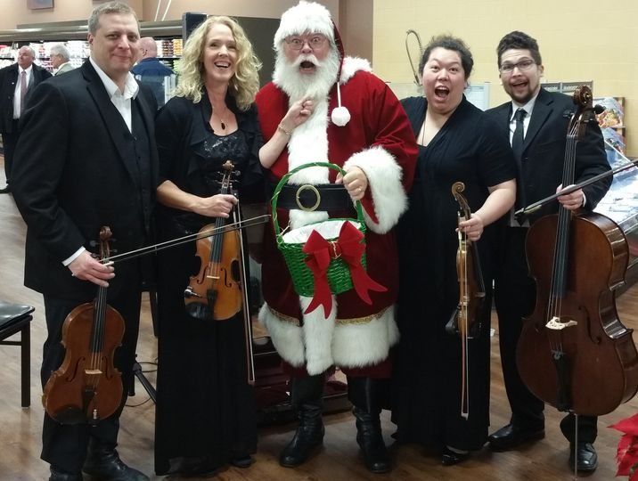 Santa & quartet