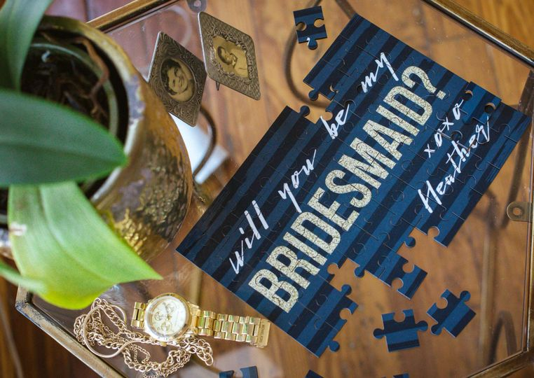 Bridesmaid puzzle gift