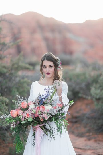 Bride alone