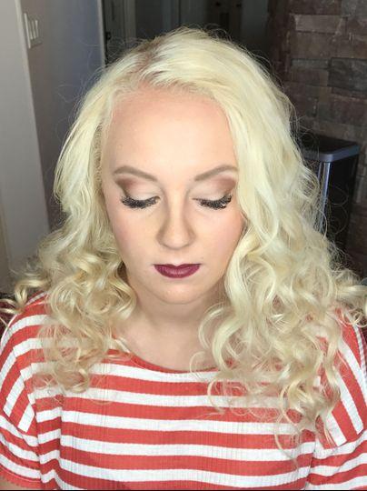 Maroon lipstick