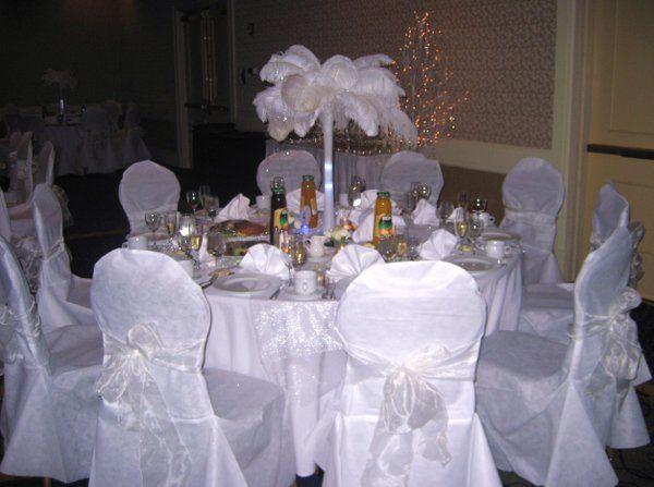 Winter theme table.