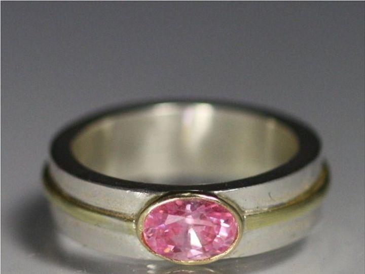 Tmx 1325725445164 1StoneOvalWrapRing14KPinkCZ Mount Vernon wedding jewelry