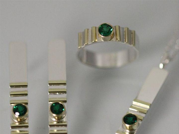 Tmx 1325725449852 1Stonew6Lines14KCollectionEmerald Mount Vernon wedding jewelry