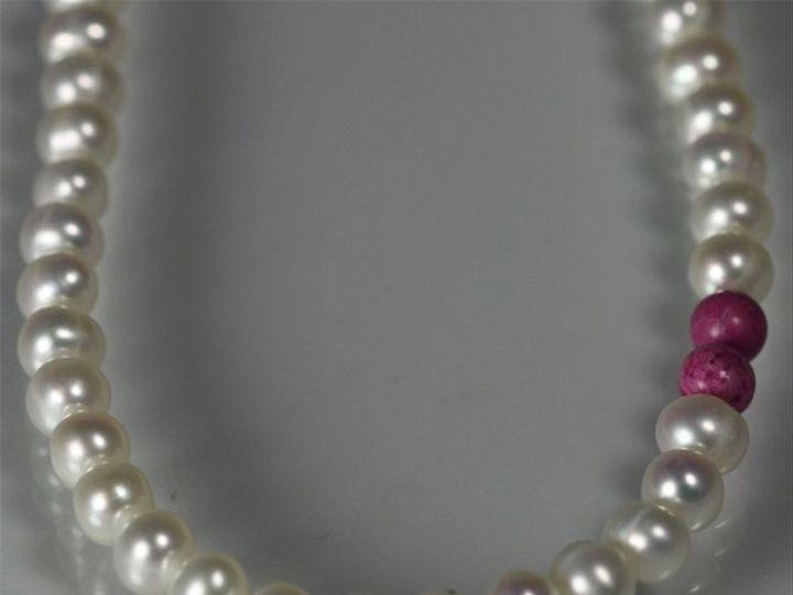 Tmx 1325725478946 16inPearlAccentcloseupFuschia Mount Vernon wedding jewelry