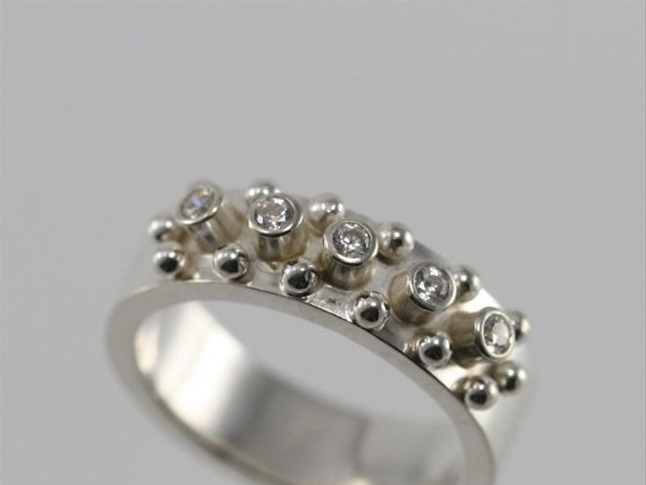 Tmx 1325725523133 5Stonew14BallRingCZ4 Mount Vernon wedding jewelry