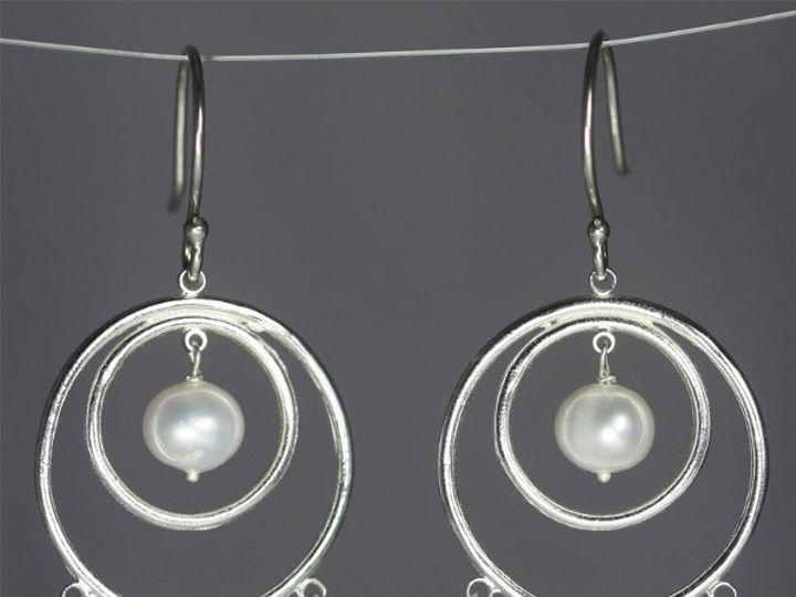Tmx 1325725557336 DoubleCircleEarwHangingStonesPearlAquamarine Mount Vernon wedding jewelry
