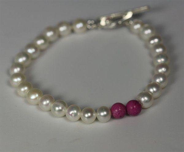 Tmx 1325725611524 PearlAccentBletFuschia Mount Vernon wedding jewelry