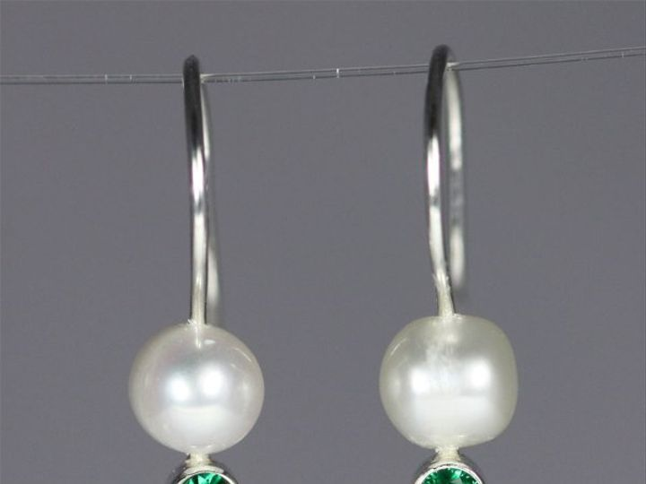 Tmx 1325725626524 PearlDropEarwStoneEmerald Mount Vernon wedding jewelry
