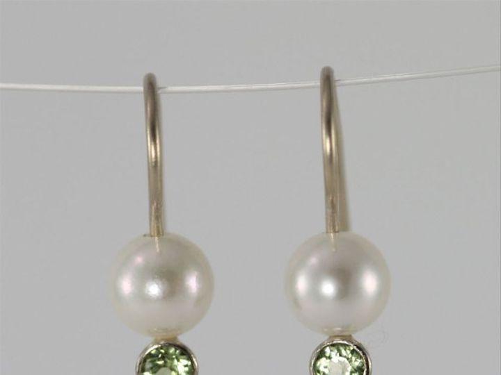 Tmx 1325725631274 PearlDropEarwStonePeridot14KW2 Mount Vernon wedding jewelry