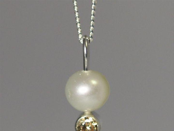 Tmx 1325725650899 PearlDropNeckwStoneChampagnecz Mount Vernon wedding jewelry