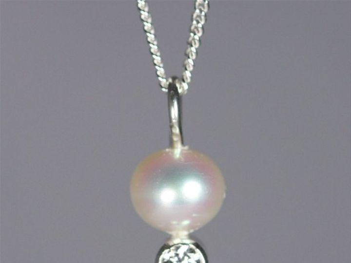 Tmx 1325725655618 PearlDropNeckwStoneCZ Mount Vernon wedding jewelry
