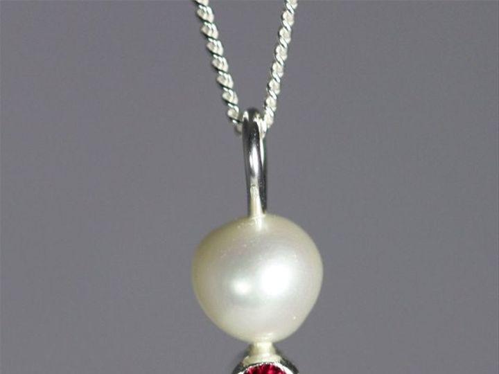 Tmx 1325725666321 PearlDropNeckwStoneRuby Mount Vernon wedding jewelry