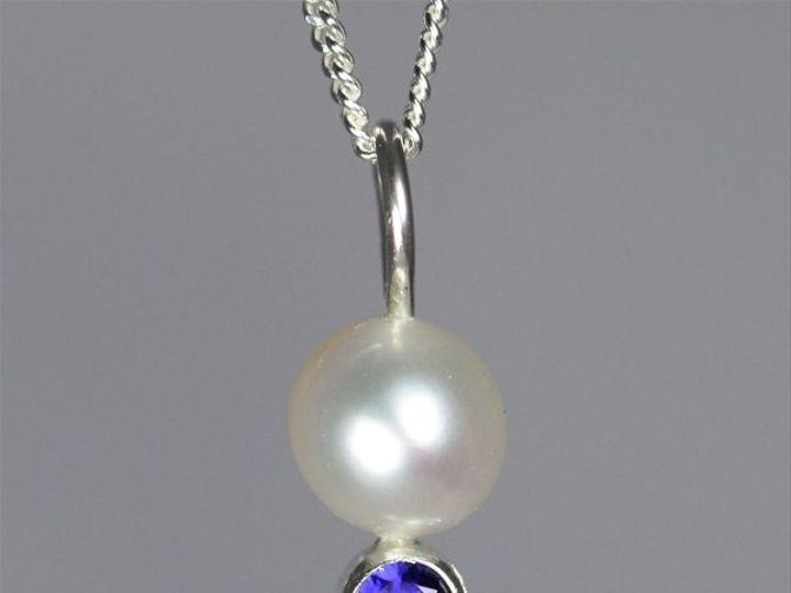 Tmx 1325725669899 PearlDropNeckwStoneSapphire Mount Vernon wedding jewelry