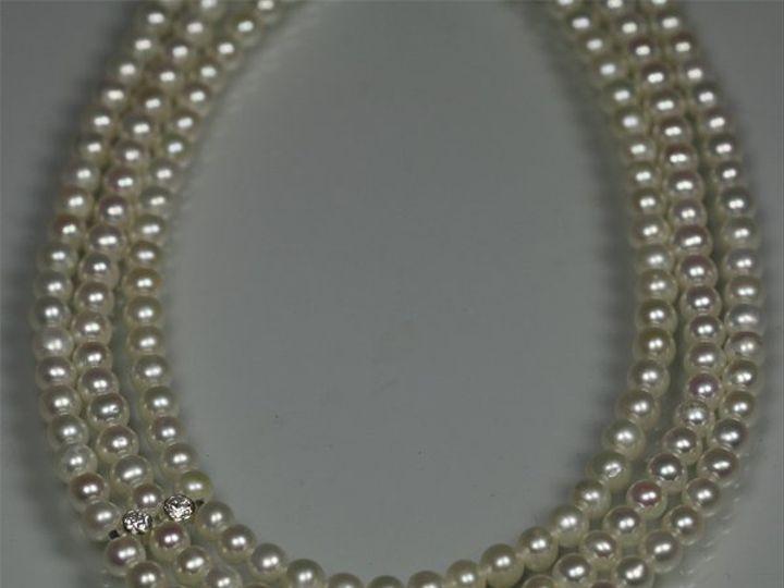Tmx 1325725708164 PearlTripleStrandw2StoneAccentCZcu Mount Vernon wedding jewelry