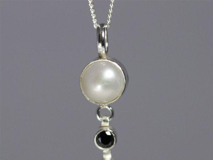 Tmx 1325725717461 Pearlw2StoneSequenceDropNeckBlackCZ Mount Vernon wedding jewelry
