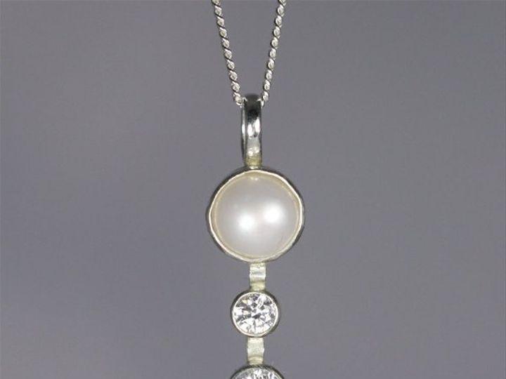 Tmx 1325725721180 Pearlw2StoneSequenceDropNeckCZ Mount Vernon wedding jewelry