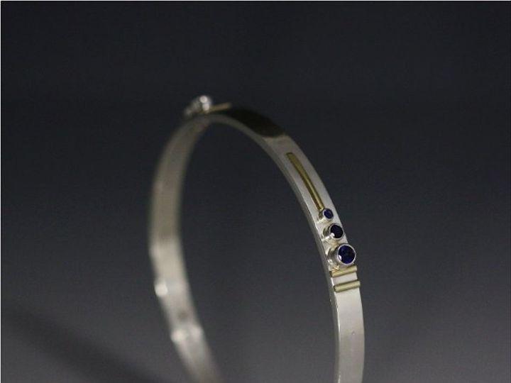 Tmx 1334835768475 3StoneSequenceBangle14K2 Mount Vernon wedding jewelry