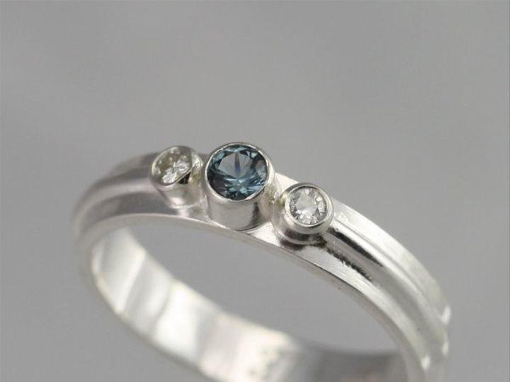 Tmx 1334835784813 3StoneWrapRingBlueZirconMoissanite Mount Vernon wedding jewelry