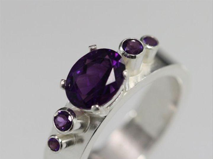 Tmx 1334835801803 5StoneOvalCrownRingAmethyst3 Mount Vernon wedding jewelry