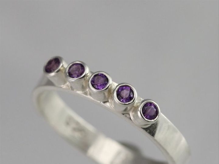 Tmx 1334835814027 5StoneRingAmethyst Mount Vernon wedding jewelry