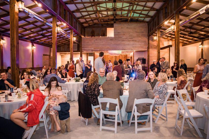 Inside of barn - reception